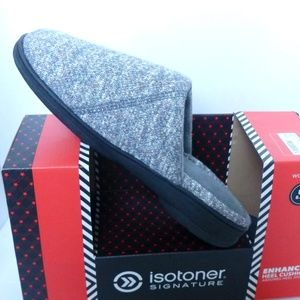Isotoner Slippers Enhanced Heels Indoor outdoor